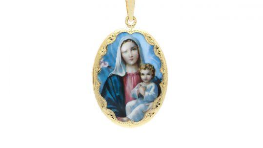 Veľký medailón Madony s dieťatkom