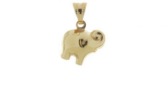 Zlatý prívesok slon